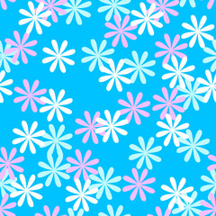 Fun seamless flower pattern
