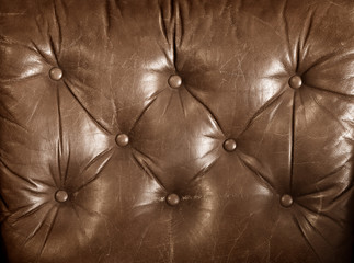 aged brown leather upholstery