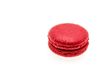 various macarons. Isolated on a white background