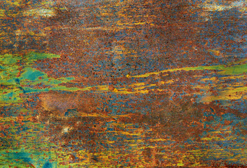 Bright color of old metal texture