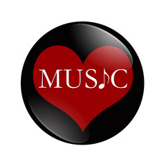 I Love Music button
