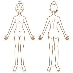 女性 体 ヌード