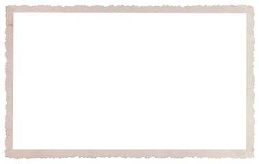 cadre carte postale ancienne à bords dentelés