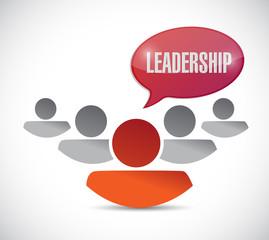 leadership sign and team illustration design