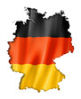 canvas print picture - German flag map