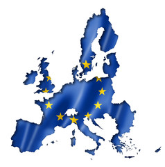 European union flag map