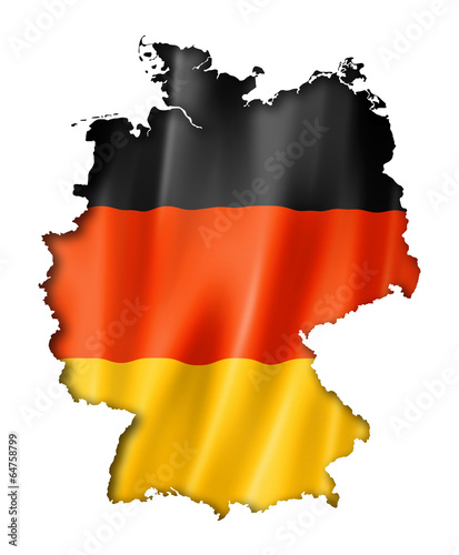 canvas print picture German flag map