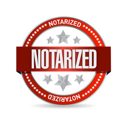 notarized seal illustration design