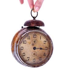 Vintage rusty alarm clock