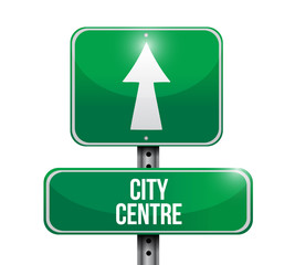 city centre street sign illustration design