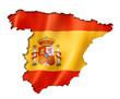 Obrazy na płótnie, fototapety, zdjęcia, fotoobrazy drukowane : Spanish flag map