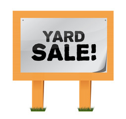 yard sale sign illustration design