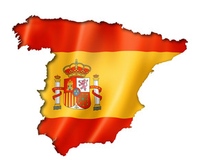 Spanish flag map