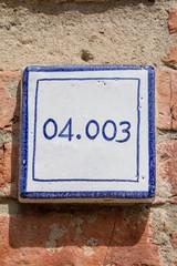 cartello numero civico tonda