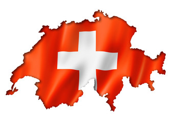 Swiss flag map