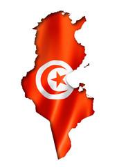 Tunisian flag map
