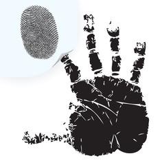 Fingerprint on a sticker