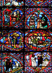 Vitrail de la cathédrale d'Auxerre
