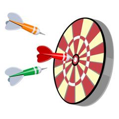 Darts and target