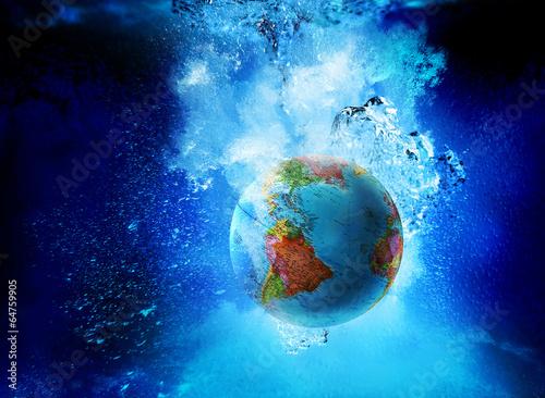 globe underwater