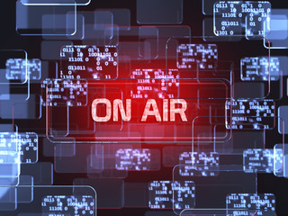 On air screen concept