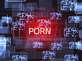 Porn screen concept