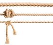 Leinwanddruck Bild - Ropes set isolated on white