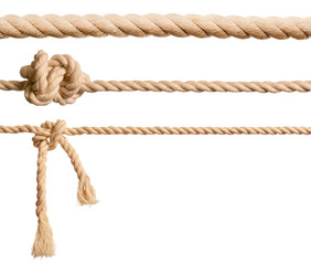 Ropes set isolated on white