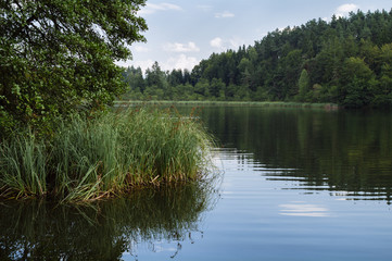 Quiet Lake of Saissersee near Velden am Worthersee (Carinthia, A