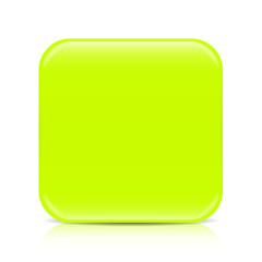 Lime green blank icon template with copy space
