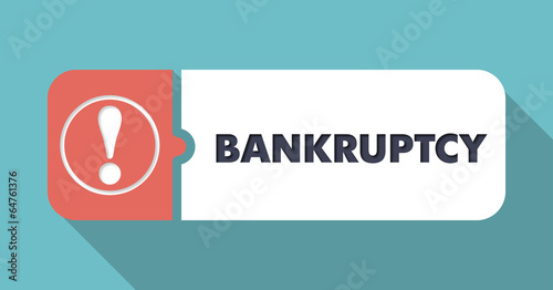 Bankruptcy on Turquoise in Flat Design. - 64761376