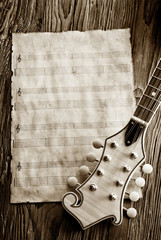 old music sheet sepia picture