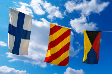 Nautical Flags on a Blue Sky (XYZ)