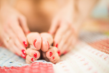 bare woman toes