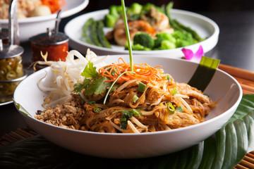 Chicken Pad Thai Closeup