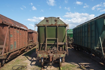 Industrial train vagons