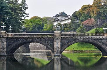 Tokyo Imperial Palace and Nijubashi bridge, Japan