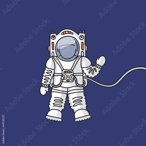Astronaut in space - 64765321