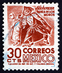 Postage stamp Mexico 1950 Indian Dancer, Michoacan
