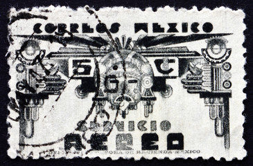 Postage stamp Mexico 1934 Symbols of Air Service