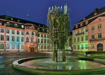 Schillerplatz Mainz  beleuchtet