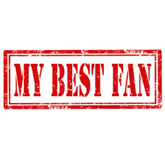 My Best Fan-stamp