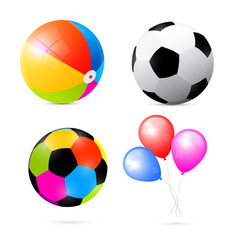 Colorful Beach, Air and Beach Balls Set