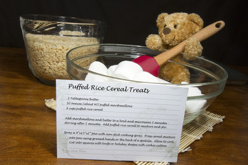 Recipe for Puffed Rice Cereal Treats