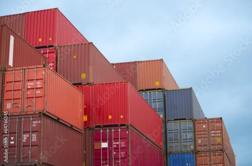 Foto op Canvas Poort Container