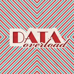 Data Overload. Retro Design Concept.