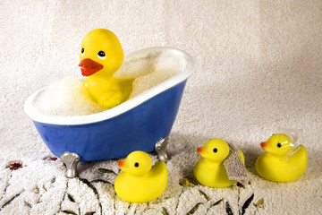 Rubber Duckies at Bath Time