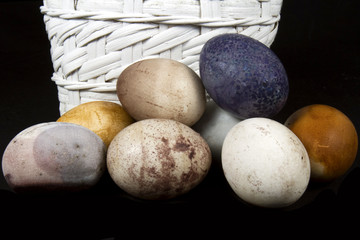 Rustic Dyed Easter Eggs