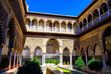 Patio de las Doncellas in Real Alcazar, Seville