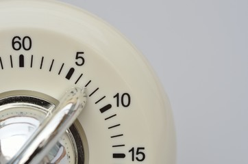 Close up of kitchen timer